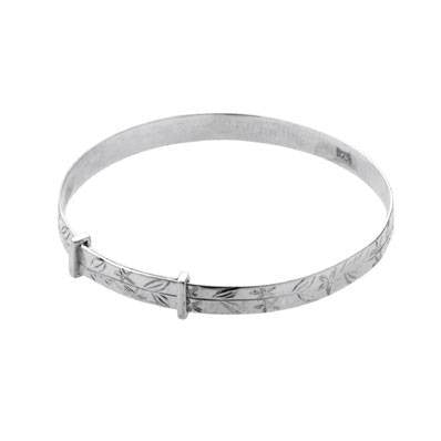 Carrs Silver Christening Bangle PNJ042 - Robert Openshaw Fine Jewellery