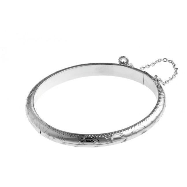 Carrs Silver Christening Bangle PNJ044 - Robert Openshaw Fine Jewellery