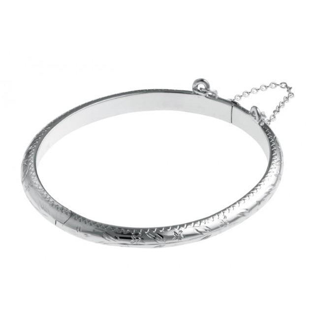 Carrs Silver Christening Bangle PNJ046 - Robert Openshaw Fine Jewellery