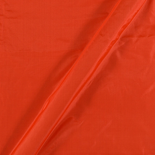 Fanta Orange Colour Plain Silk Fabric