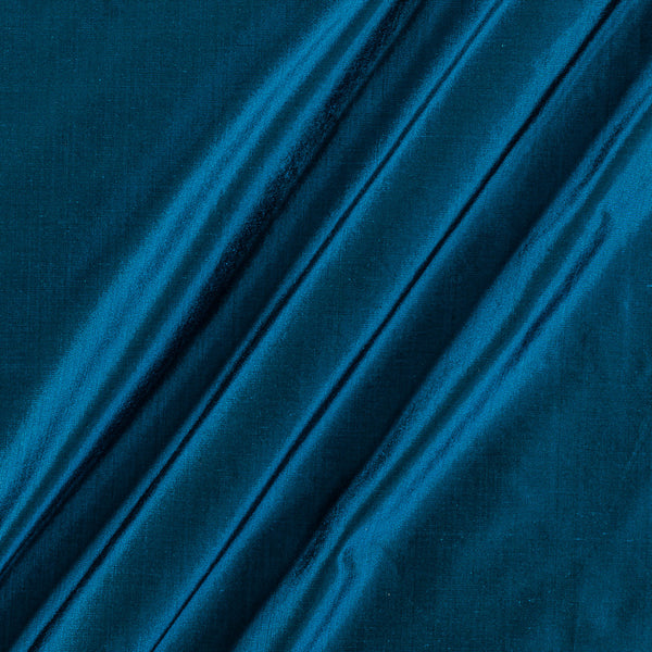 Pure Silk Teal Blue Colour Fabric