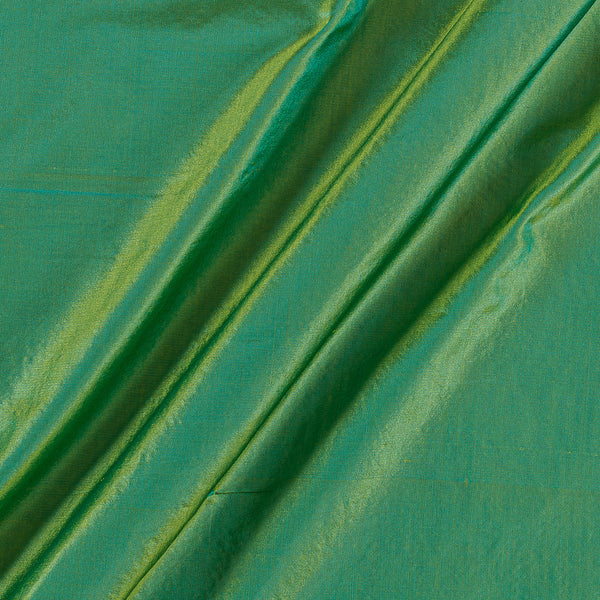 Pure Silk Acid Green To Sky Blue Two Tone Fabric