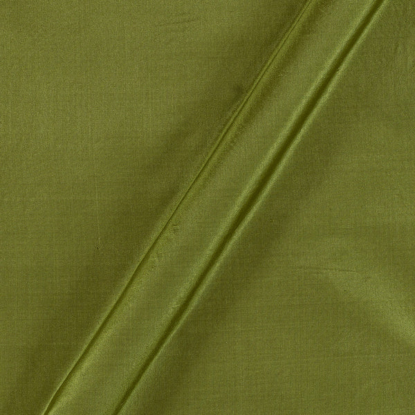 Pure Silk Moss Green Colour Fabric