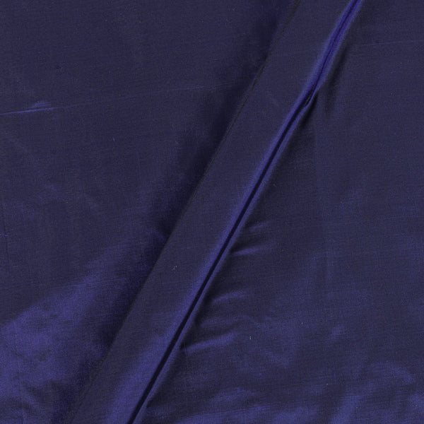 Plain Silk Navy Blue Colour Fabric