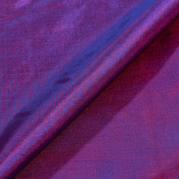 Pure Silk Deep Purple Two Tone Fabric