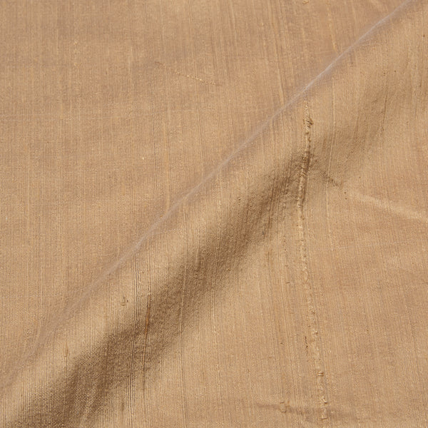 Beige Color Pure Raw Silk Fabric