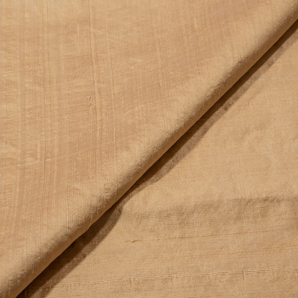Gold Dust Color Pure Raw Silk Fabric