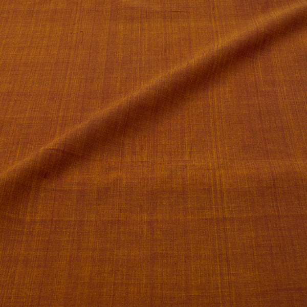 Rust Brown Colour Handloom  Mangalgiri  Washed  Cotton Fabric