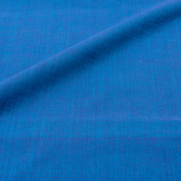 Mangalgiri Washed Cotton Blue Colour 42 inches Width Fabric