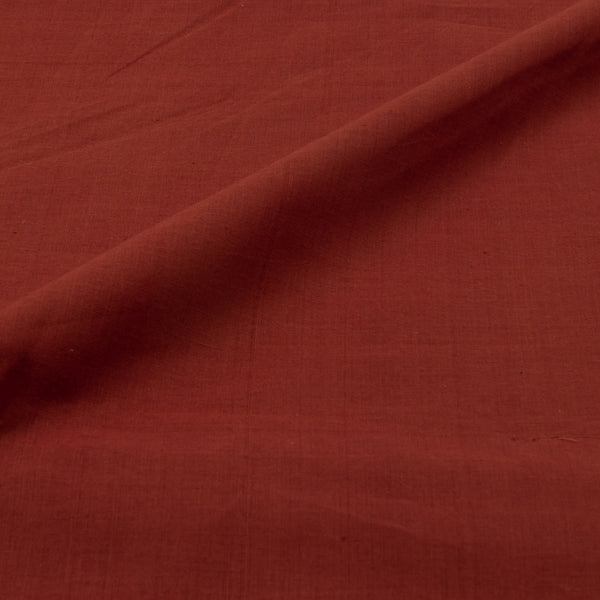 Brick Red Colour Handloom  Mangalgiri  Washed  Cotton Fabric