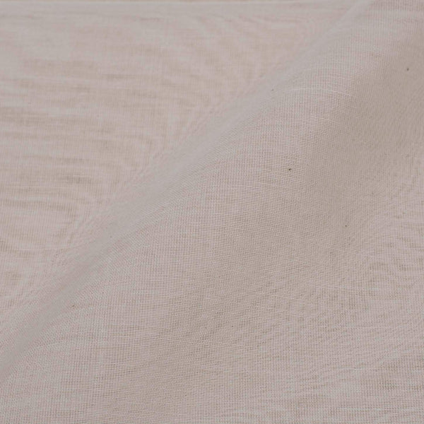 Off White Colour Pure Chanderi Feel Dyeable Fabric