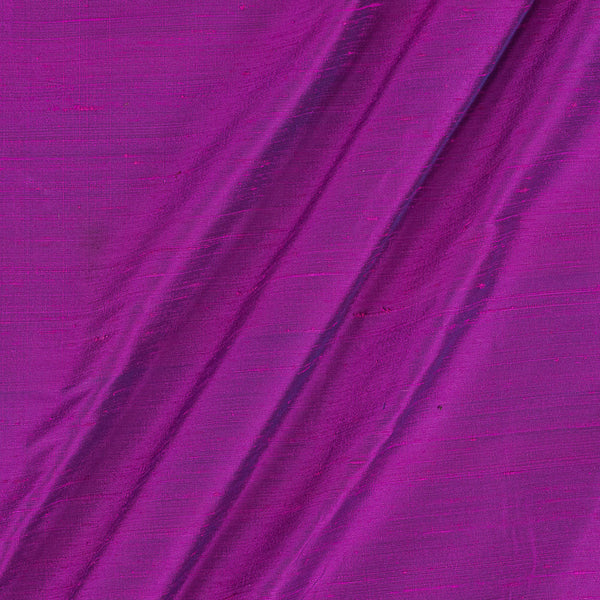 95 gm Pure Handloom Raw Silk Rani Pink To Blue Two Tone Fabric