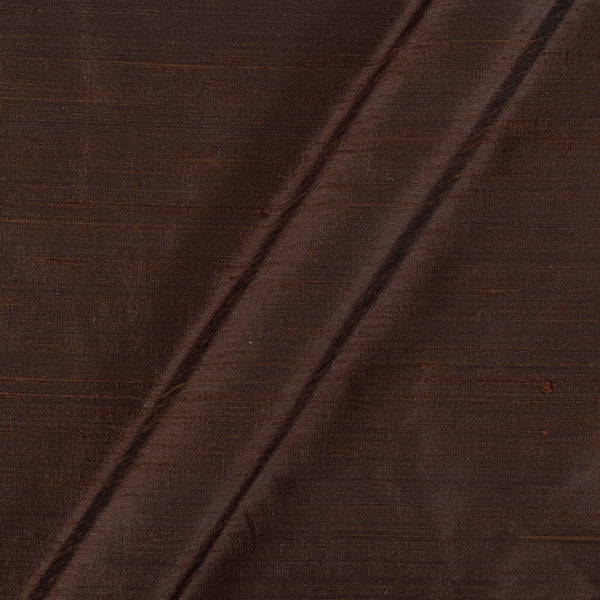 95 gm Pure Handloom Raw Silk Coffee Brown Colour Fabric