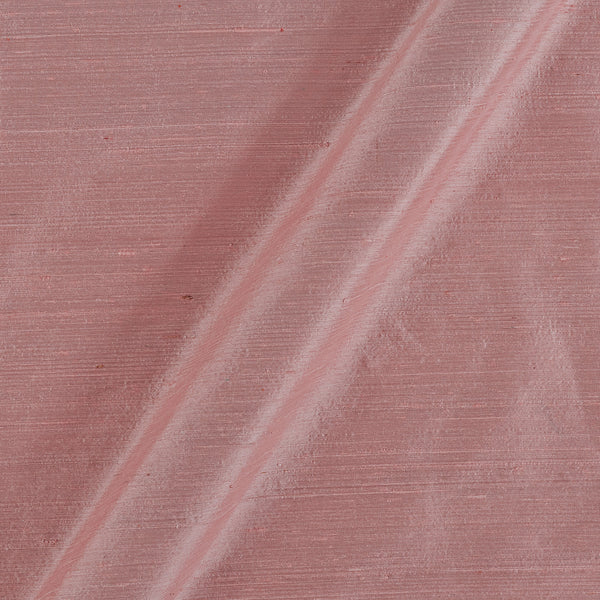 95 gm Pure Handloom Raw Silk Petal Pink Colour 43 Inches Width Fabric