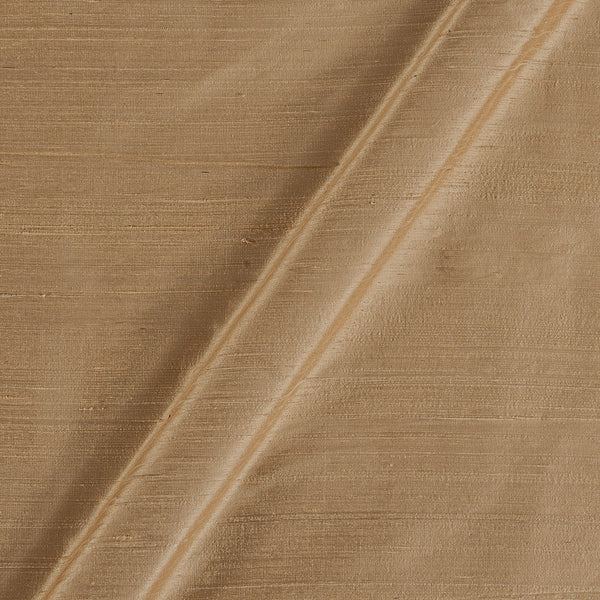 95gm Pure Handloom Raw Silk Beige Colour 41 Inches Width Fabric