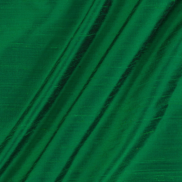 95gm Pure Handloom Raw Silk Green Colour Fabric
