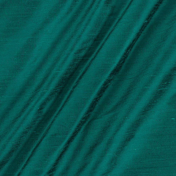 95 gm Pure Handloom Raw Silk Peacock Green Colour Fabric
