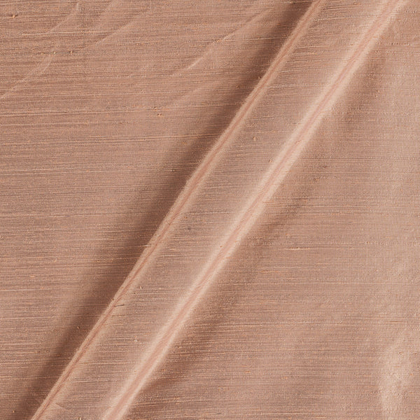 95gm Pure Handloom Raw Silk Butterscotch Colour 43 Inches Width Fabric