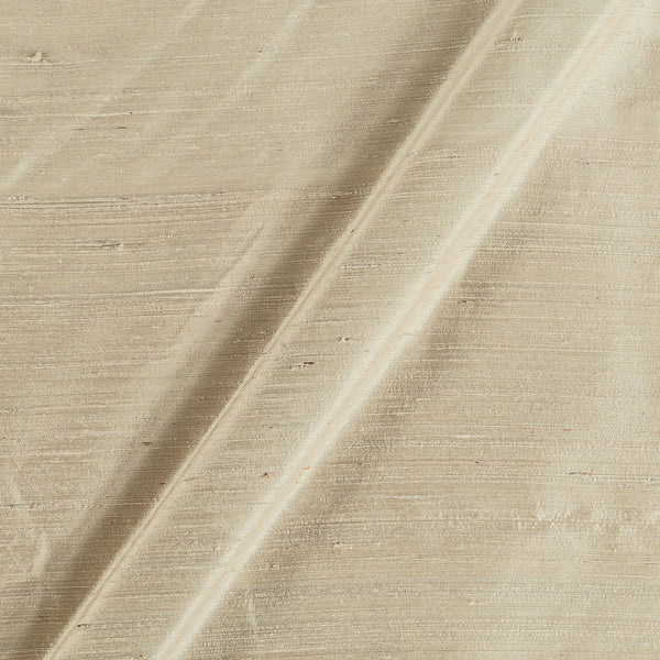 95gm Pure Handloom Raw Silk off White Colour 43 Inches Width Fabric