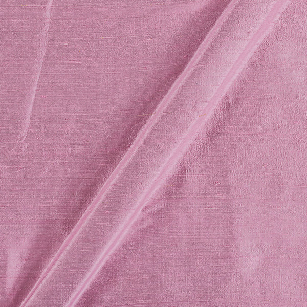 95 gm Pure Handloom Raw Silk Pastel Pink Colour  43 Inches Width Fabric