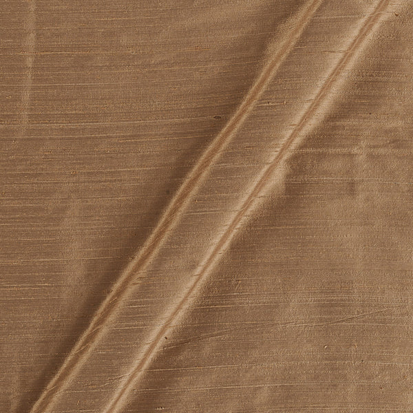 95 gm Pure Handloom Raw Silk Sand Gold Colour 43 Inches Gold Fabric