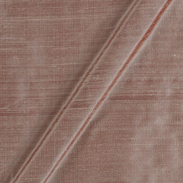 95 gm Pure Handloom Raw Silk Rose Gold Colour 43 Inches Width Fabric