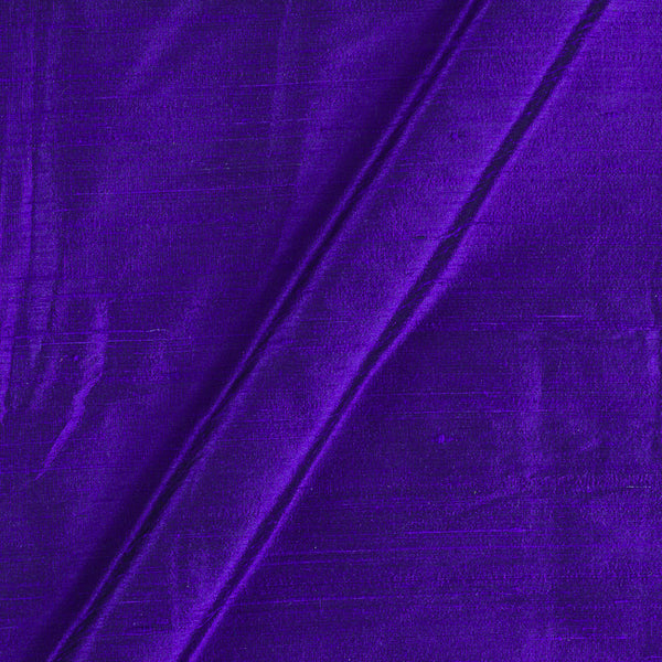 95gm Pure Handloom Raw Silk Electric Blue Colour  Fabric