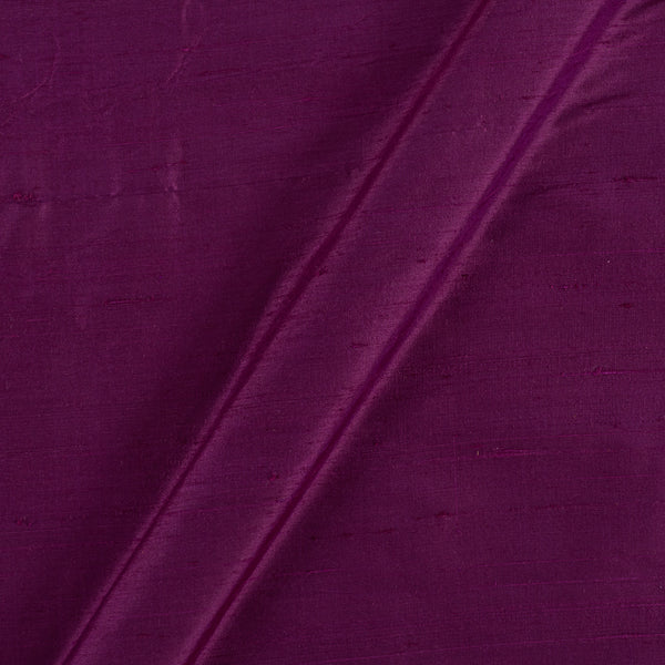 95gm Pure Handloom Raw Silk Berry Colour  Fabric