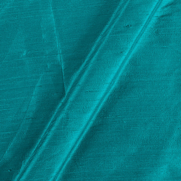 95gm Pure Handloom Raw Silk Peacock Blue Colour  Fabric