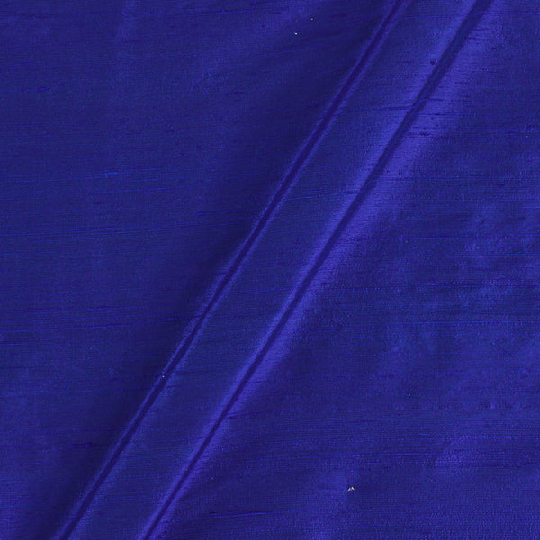 95 gm Pure Handloom Raw Silk Royal Blue Colour Fabric