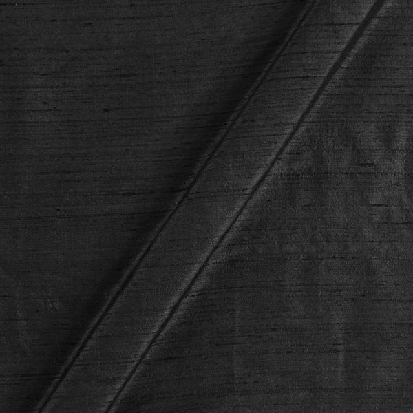 95 gm Pure Handloom Raw Silk Black Colour Fabric