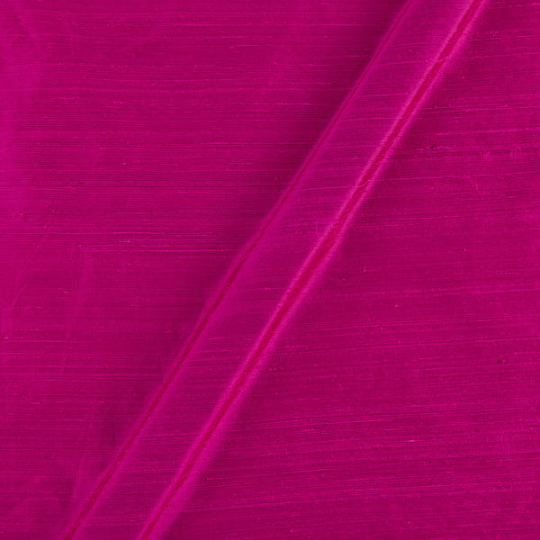 95 gm Pure Handloom Raw Silk Hot Pink Colour Fabric