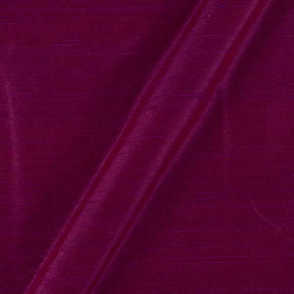 95 gm Pure Handloom Raw Silk Magenta Two Tone Fabric