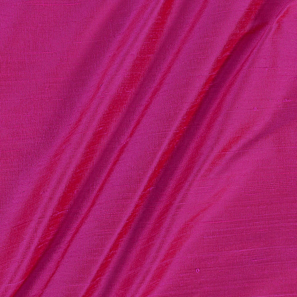 95 gm Pure Handloom Raw Silk Rose Pink Two Tone Fabric