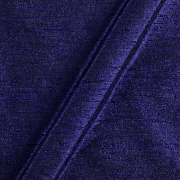 95 gm Pure Handloom Raw Silk MidNight Blue Colour Fabric