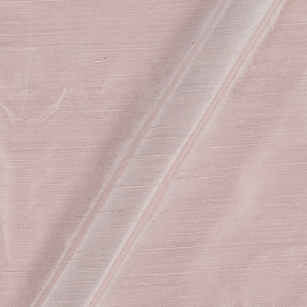95 gm Pure Handloom Raw Silk White to Pink Two Tone Fabric