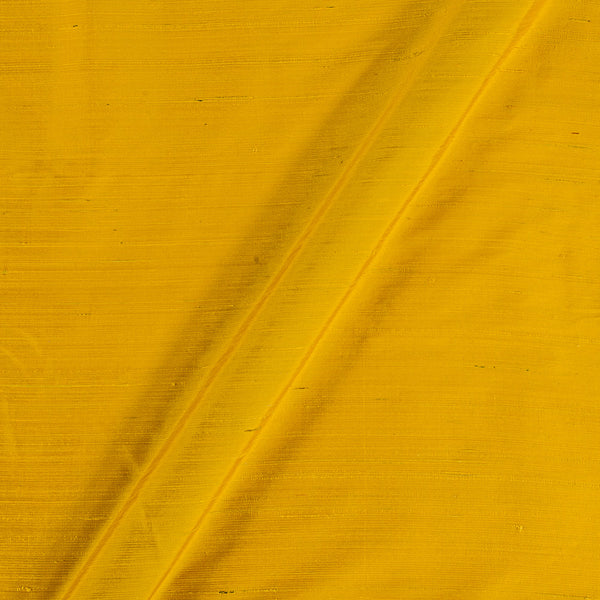 95gm Pure Handloom Raw Silk Bright Yellow Colour  Fabric