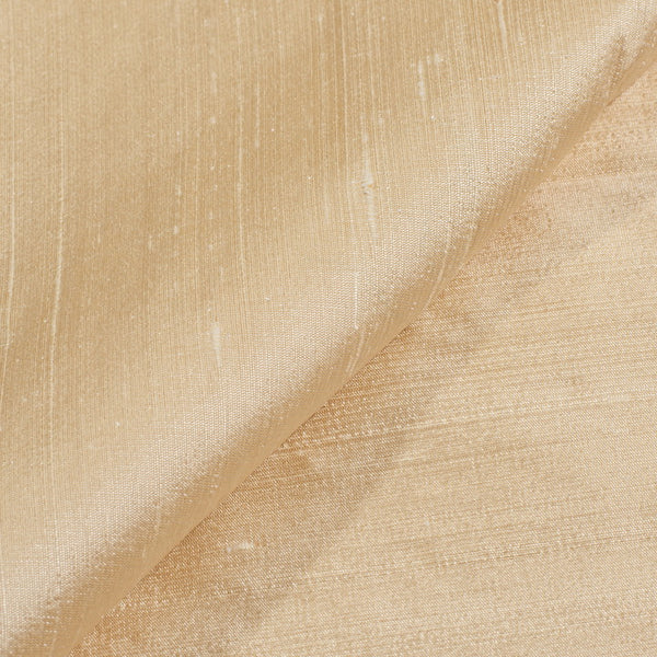 Off White Colour 95gm Pure Handloom Raw Silk Fabric