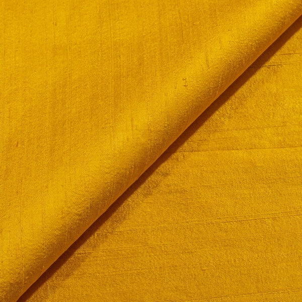 Golden Yellow Colour 95gm Pure Handloom Raw Silk Fabric 38 inch Width