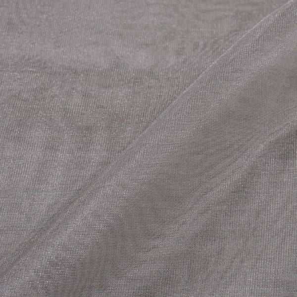 Silver Colour 47 inches Width Zari Dyeable Tissue Fabric