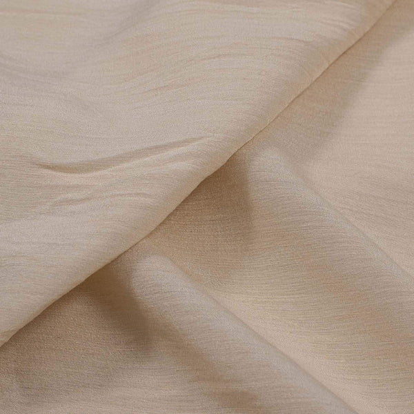 Off White Colour 43 inches Width Pure Munga Silk Dyeable Fabric