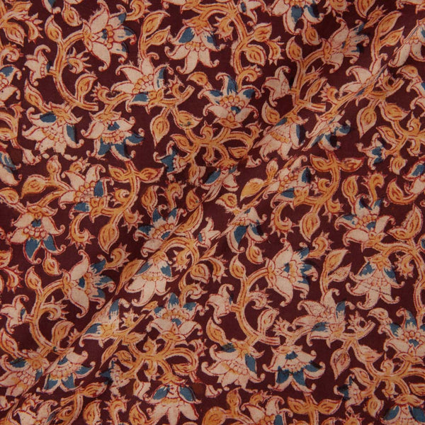 Cotton Maroon Colour 45 inches Width Natural Kalamkari Fabric