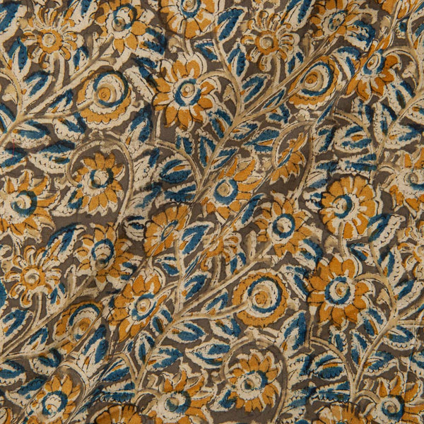 Cotton Olive Colour 45 inches Width Natural Kalamkari Fabric