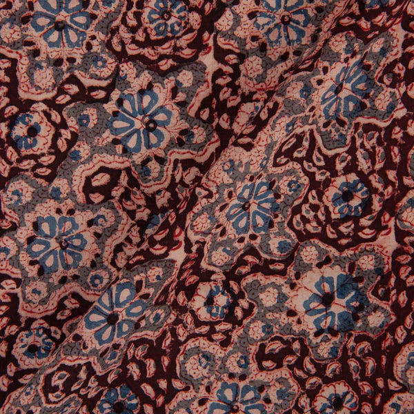 Cotton Plum Colour 45 inches Width Natural Kalamkari Fabric