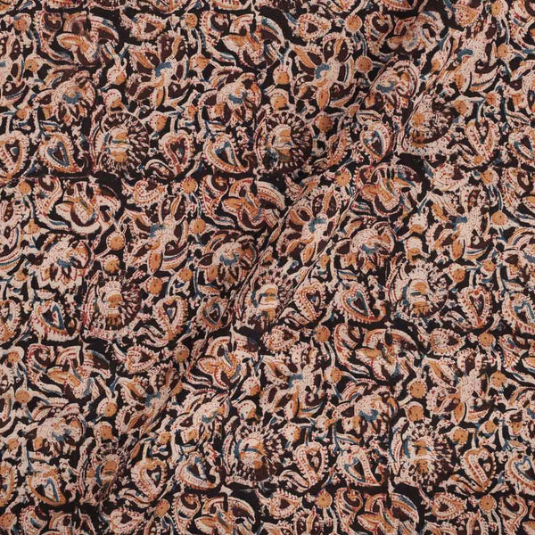 Cotton Coffee Colour Natural Kalamkari Fabric