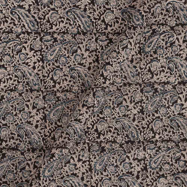 Cotton Black Colour 45 inches Width Natural Kalamkari Fabric