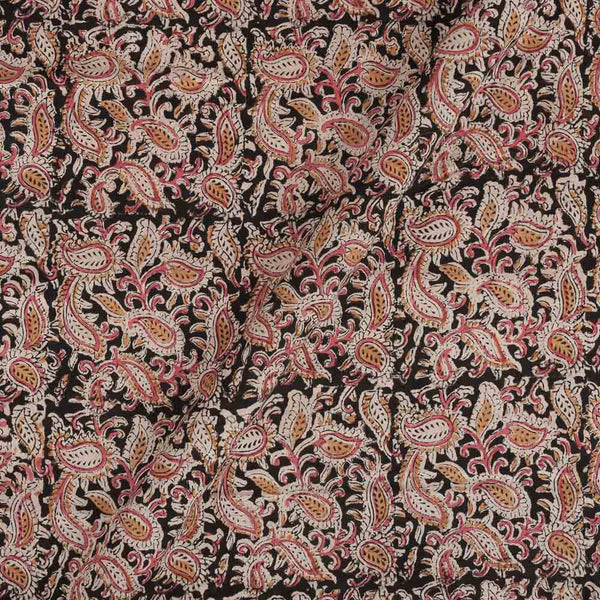 Cotton Black Colour 46 inches Width Natural Kalamkari Fabric