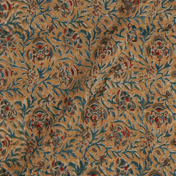 Cotton Mustard Colour Natural Kalamkari Fabric