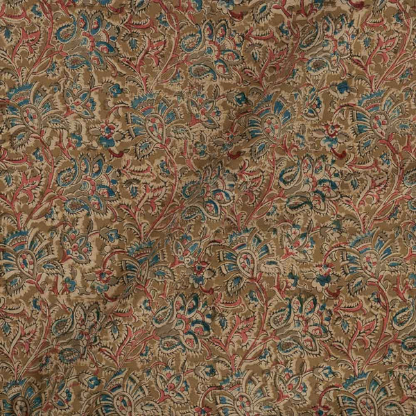 Cotton Olive Colour Natural Kalamkari Fabric