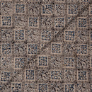 Grey Black Colour Natural Kalamkari Cotton Fabric